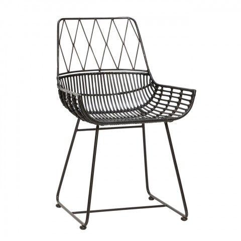 Rattanstuhl Schwarz Stuhl Design Stuhl Schwarz Sessel Schwarz Hubsch Interior Stuhl Design Esszimmerstuhl Stuhle