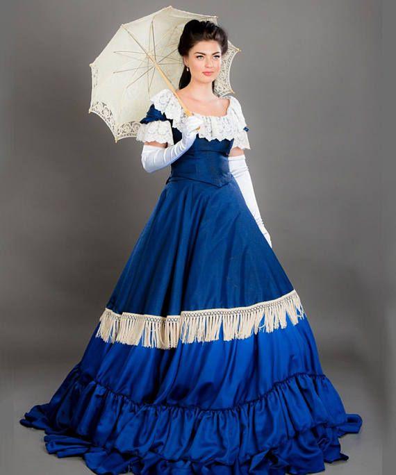 Époque D'epoque Robe Victorienne Somptuese TissuDe D29EIHW