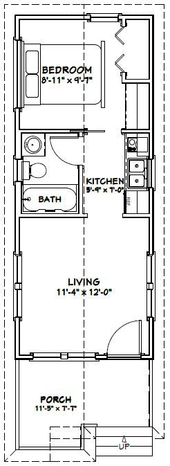 12x30 Tiny House 12x30h1 358 Sq Ft Excellent Floor Plans Tiny House Floor Plans Plans Tiny Tiny House Plans