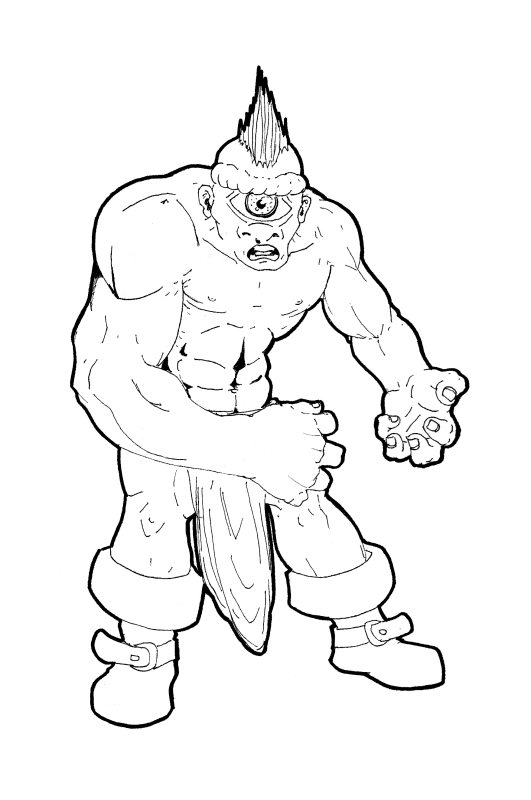 funny Cyclops Coloring Pages for kids | Projects to Try ...