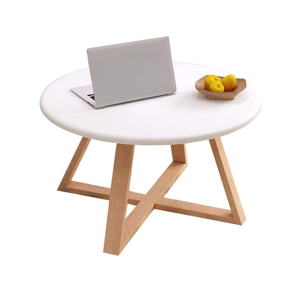 Home Warehouse Wooden Coffee Table Nordic Living Room Leisure Tea Table Decoration Sofa Table Corner Table Coffee Table White Small Table Wooden Coffee Table