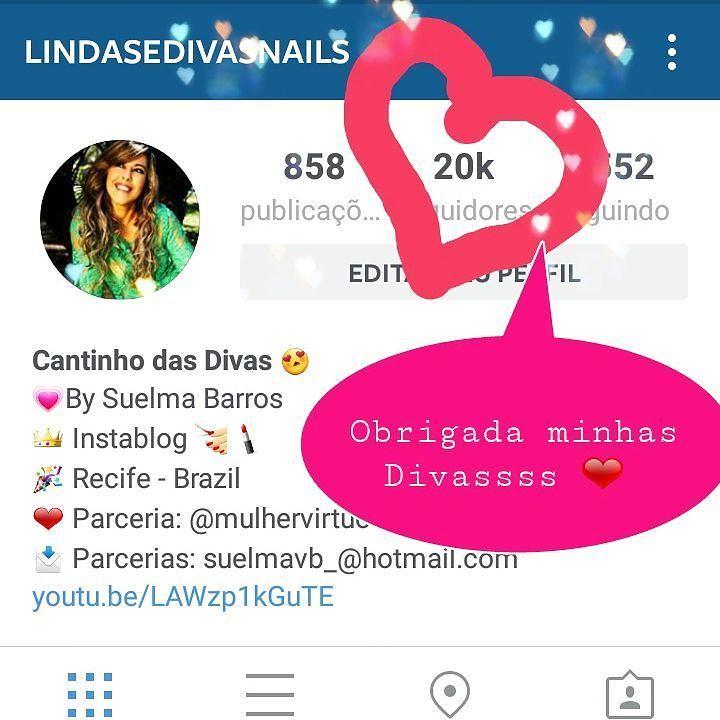 Obrigada minhas Divassss maravilhosas que eu tanto amoooo    Pelo carinho de todassss amanhã teremos novidades. Surpresa pra vocês em comemoração aos 20K todas essa Divas (os)  que alegram os meus dias.   #recife #saopaulo #riodejaneiro #maceio  #minasgerais #londres #makebrasil #makeup #esmaltadasdodia #brasilianblogger #blogueirasnordeste #unhasarrumadas #unhaslindas #mar #unhasoriginais #esmaltes #saopaulo #riodejaneiro #scra2ch #blogueiraspe #nailspolish #dicasdeunhasbr #manicure…