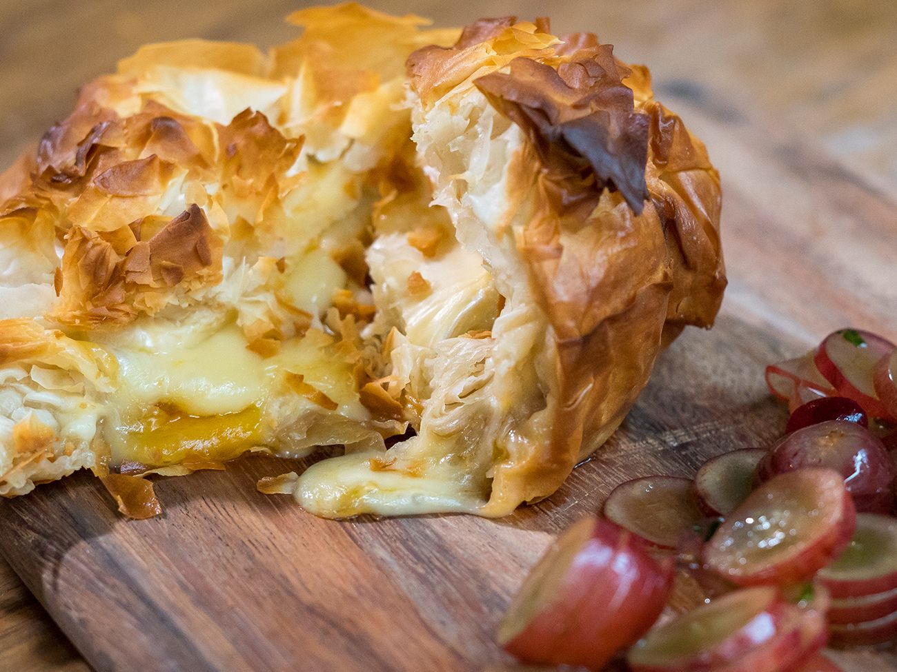 Apricot And Caramelized OnionStuffed Baked Brie Recipe