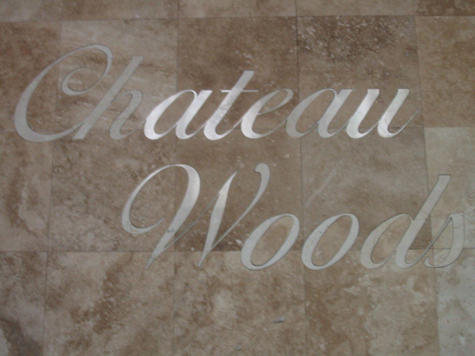 Ceramic tile letters choice image tile flooring design ideas ceramic tile with brushed aluminum letters for chateau woods ceramic tile with brushed aluminum letters for doublecrazyfo Image collections