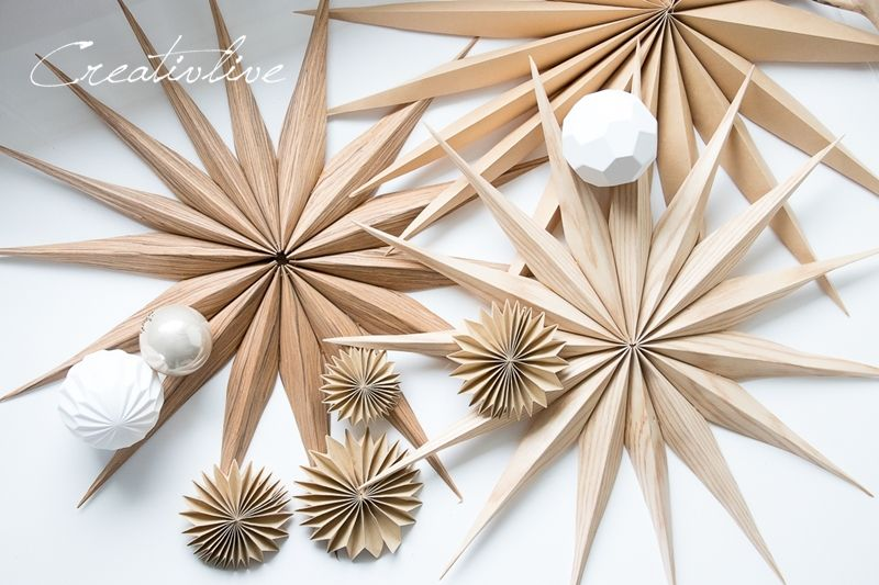 DIY einfache Sterne und Plissees aus Holz und Kraftpapier – CreativLIVE