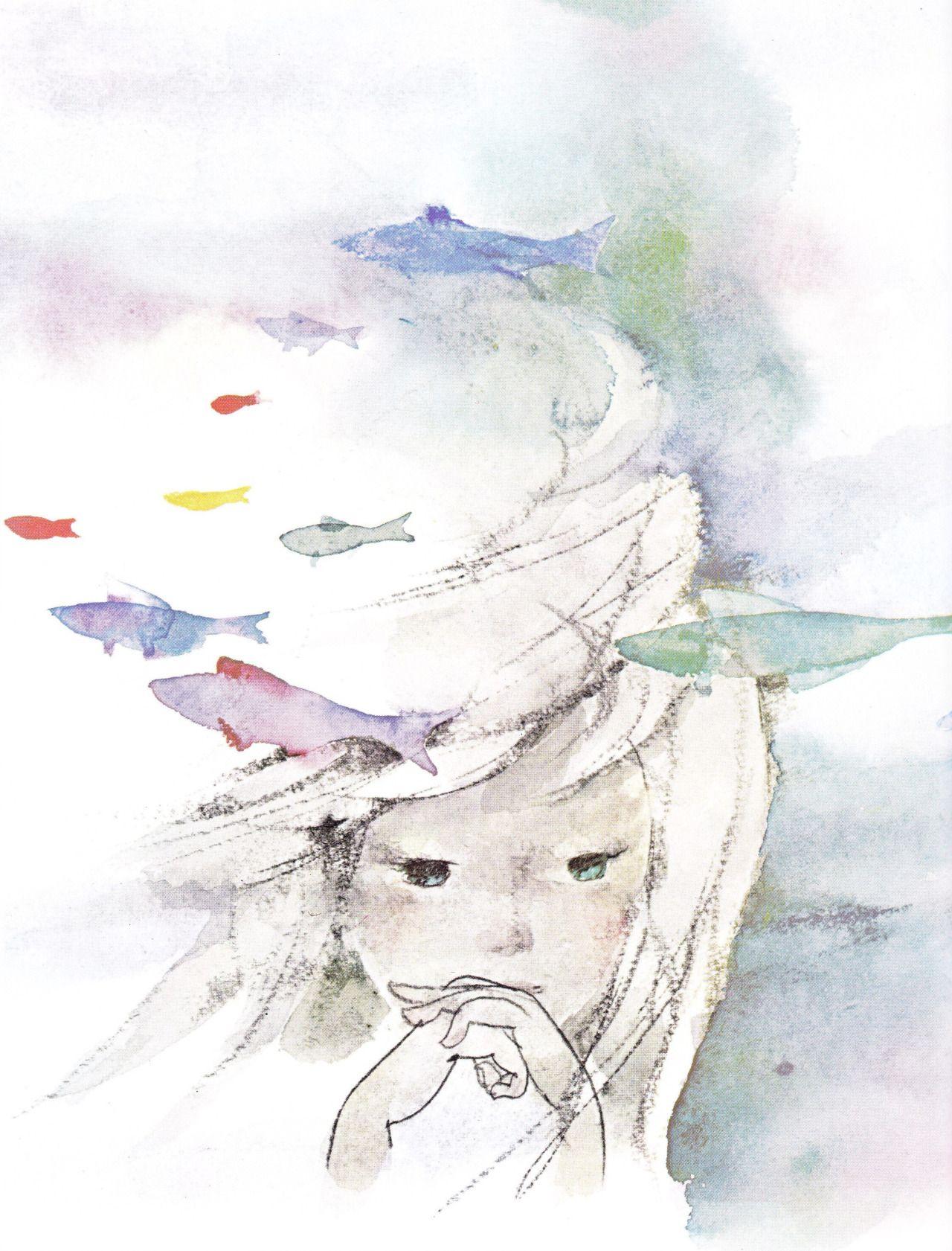 Chihiro Iwasaki Tumblr Mermaid Art Art Illustration