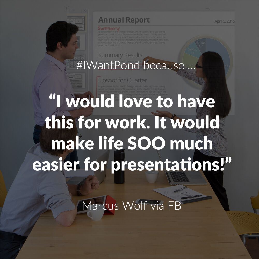 The Touchjet Pond is already making a splash! Why do you want to get your hands on the world's only touch screen Smart Projector? Tell us with #IWantPond.