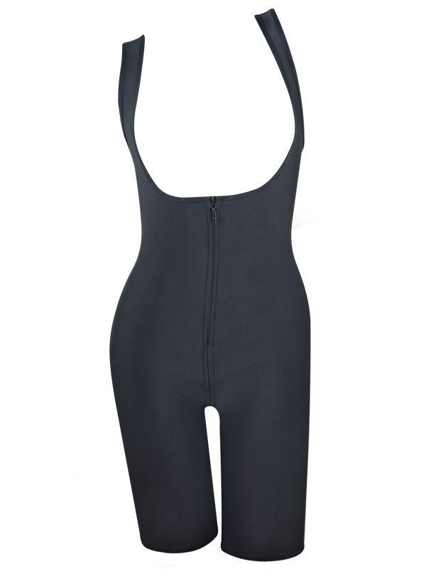 fb4f3a2229d Burvogue Plus Size Women Latex Shapewear Zipper Butt Lift Body Shaper