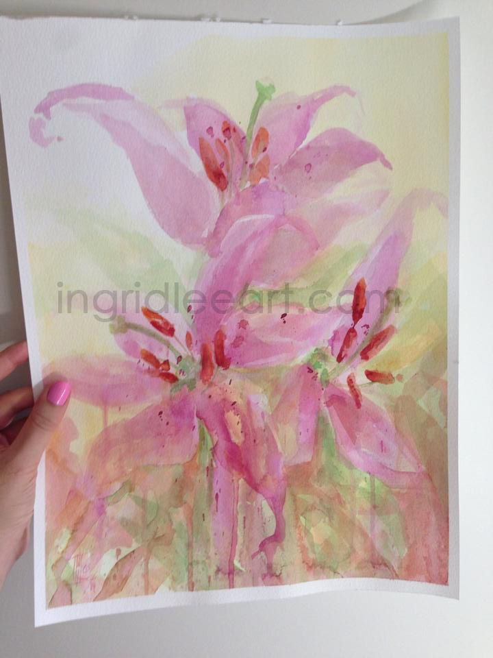 Day 6 painting journey with Ingrid Lee