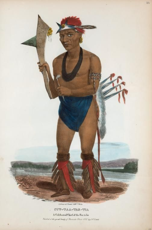 A Native American Sauk /& Fox Indian Chief 1835 Kee-o-kuk Historic Art Print