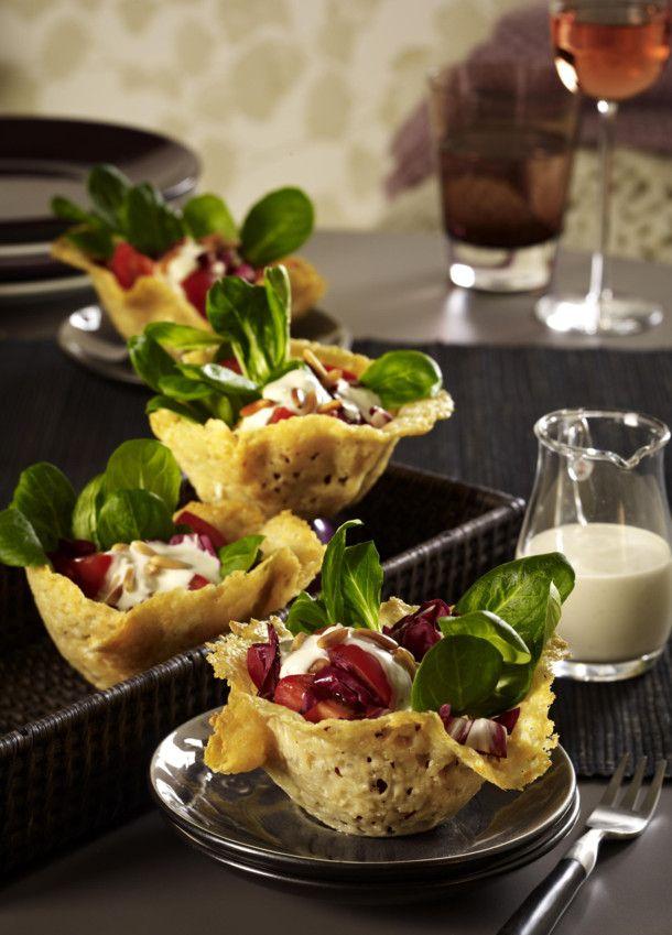 parmesank rbchen mit salat la caesar rezept kochen pinterest beliebtesten rezepte. Black Bedroom Furniture Sets. Home Design Ideas