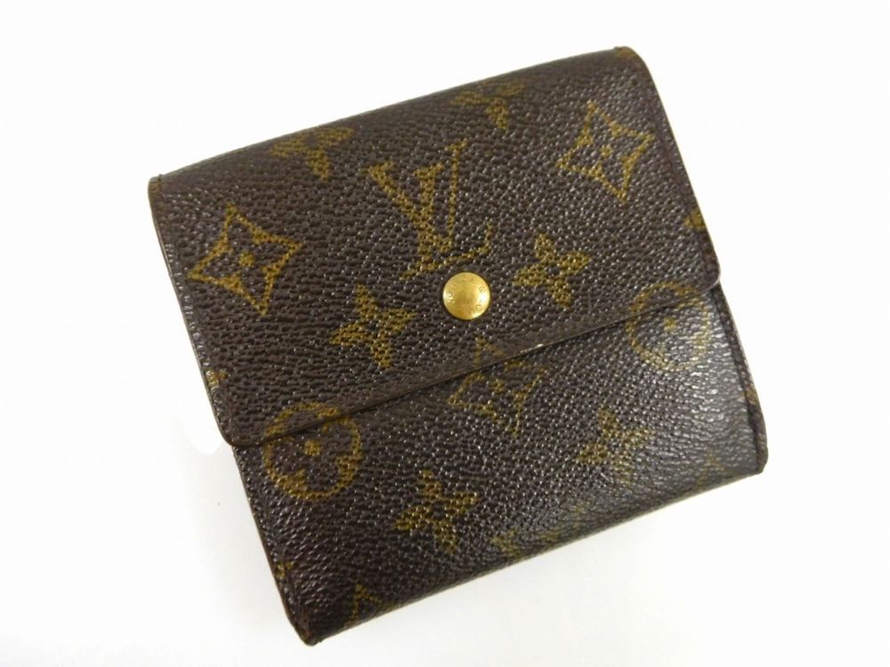 Authentic LOUIS VUITTON Monogram Bifold Wallet X11864
