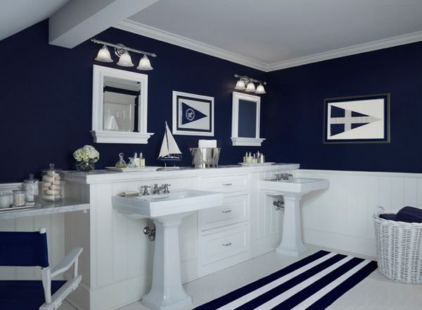 20 Beautiful Beach Bathroom Decors Home Design Lover Blue Bathroom Decor Nautical Bathroom Decor Nautical Bathrooms