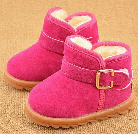 EU 21-30 Girls Winter Shoes And Boots Kids Ankle Boots Boys Thick Warm Baby Girl Snow Boots Super Soft Non-slip Child Snow Shoes