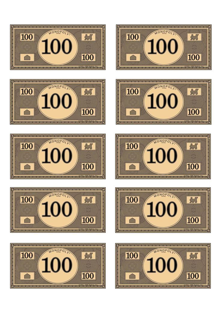 image about Printable Monopoly Money titled Monopoly Cash Template Print Monopoly dollars 100 3QJgi9RG