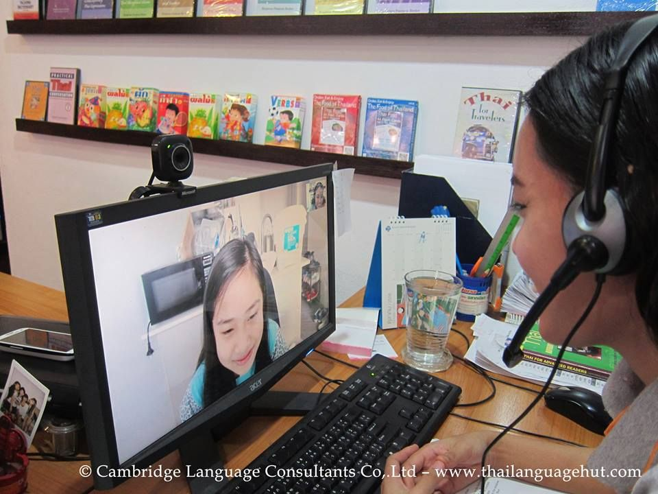 Nong Kaimuk, Thai girl, learns English online from