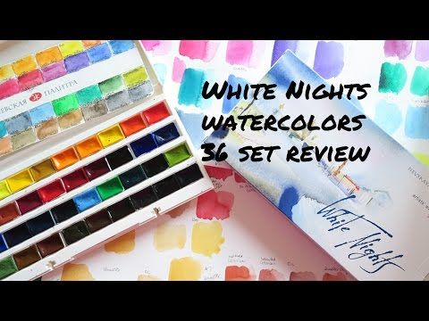 St Petersburg White Nights Watercolors 36 Pans Review Youtube