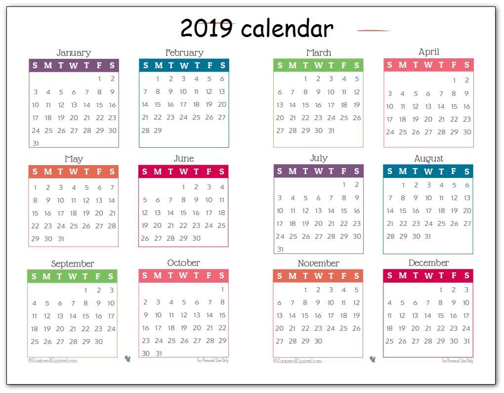 Print Year Calendar One Page Di 2020 Hanukkah Blog