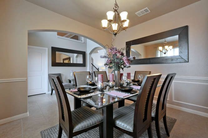 Spacious Dinning Room In Siena Model Home Saratogahomes
