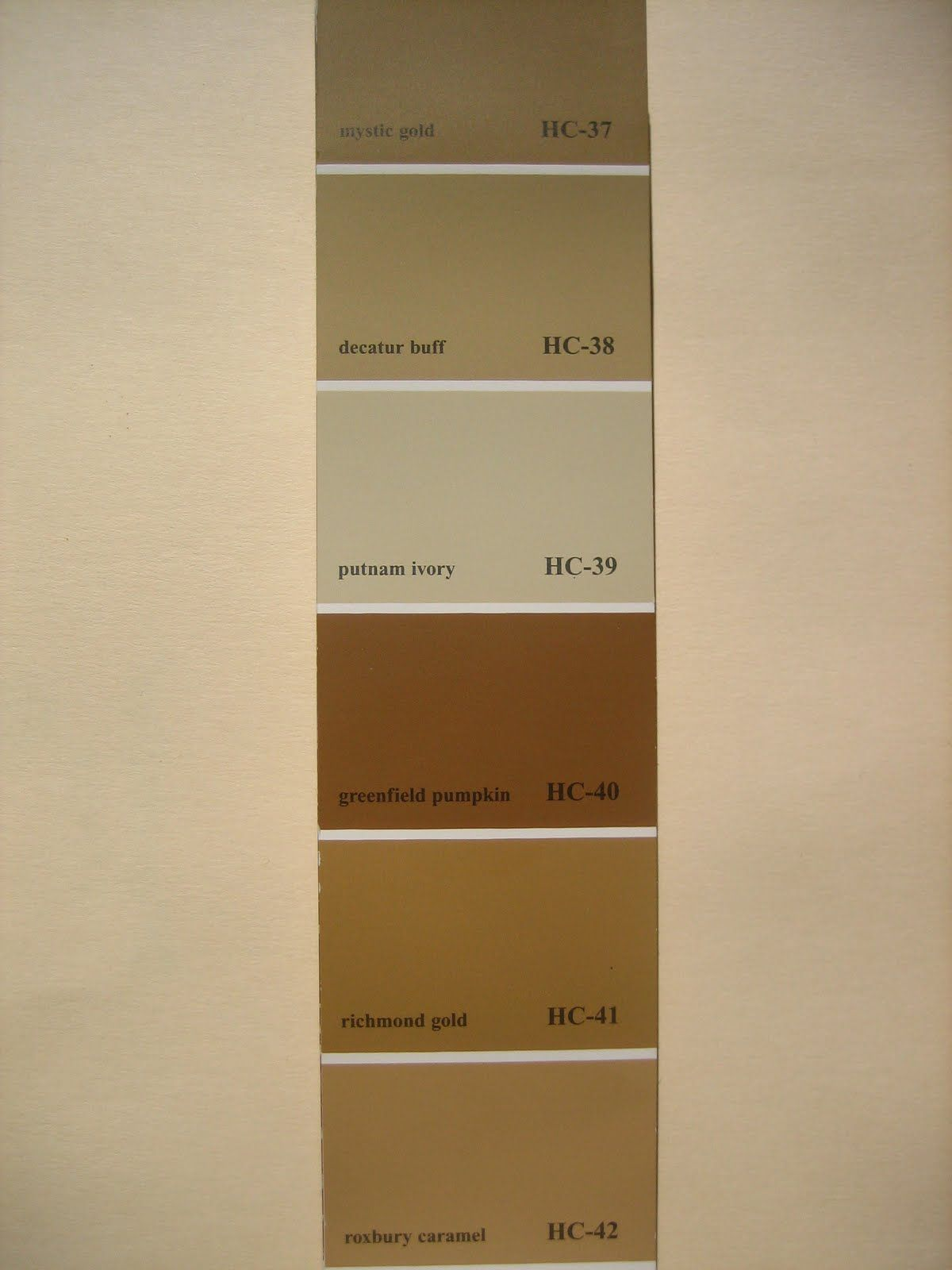 Putnam Ivory And Matching Colors Warm Paint