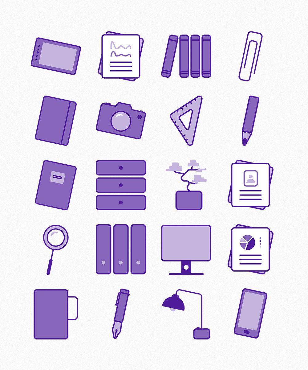 Office Objects Icons Icon Web Design Free Icon Set