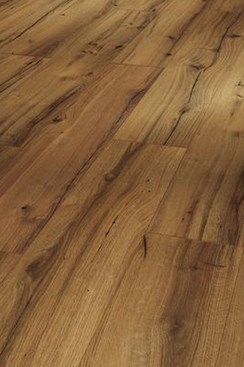 Klick Laminat Boden Holzboden Braun Landhausdiele Diele Fußboden Belag Eiche