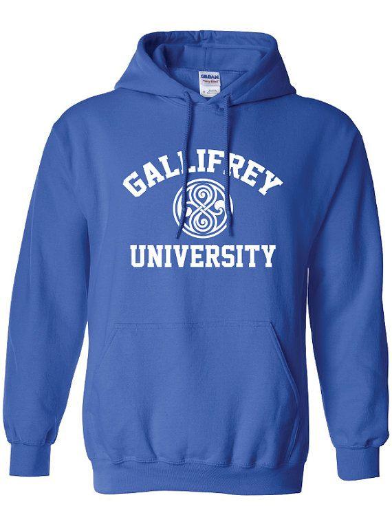 8c169a0e5 Gallifrey University Alumni Doctor Who Police public call box Tardis hoodie  hooded sweatshirt Mens Ladies Womens Youth Kids Funny ML-167H