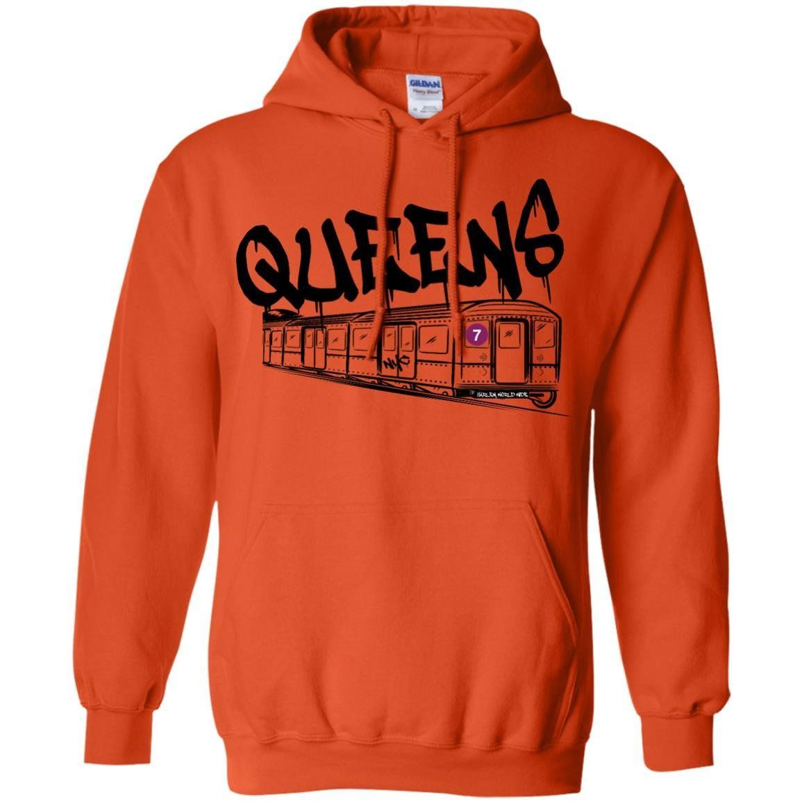 QUEENS-7 TRAIN Pullover Hoodie 8 oz.