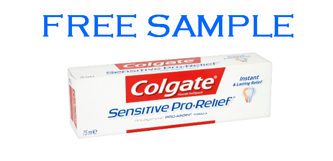 Colgate Sensitive Pro Relief Toothpaste FREE SAMPLE - Brought to ...