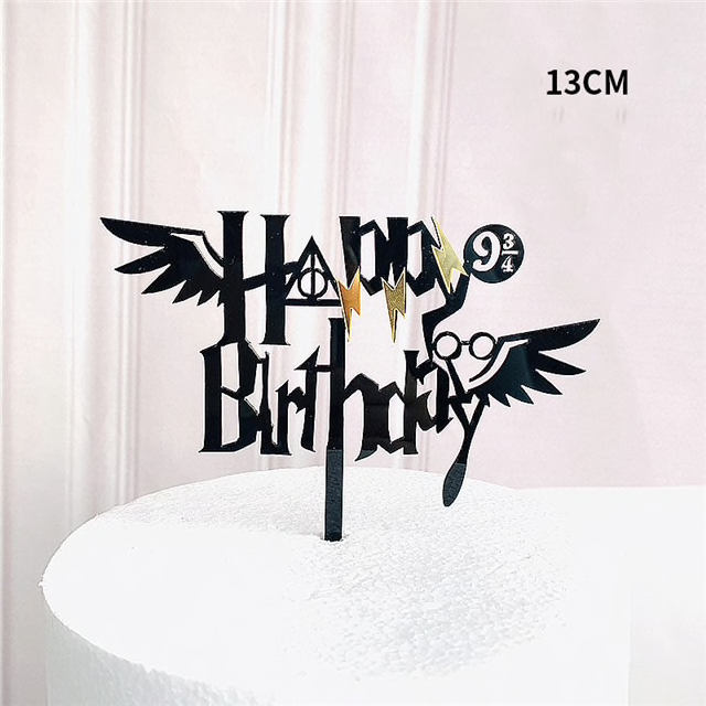 Photo of Happy Birthday Harry Potter Mixed Acrylic Cake Topper
