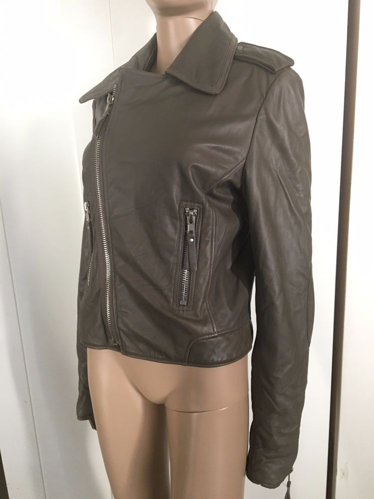 b8cb6b522 AUTH $1200 YOUNG FABULOUS AND BROKE TAN LEATHER MOTORCYCLE BIKER ...