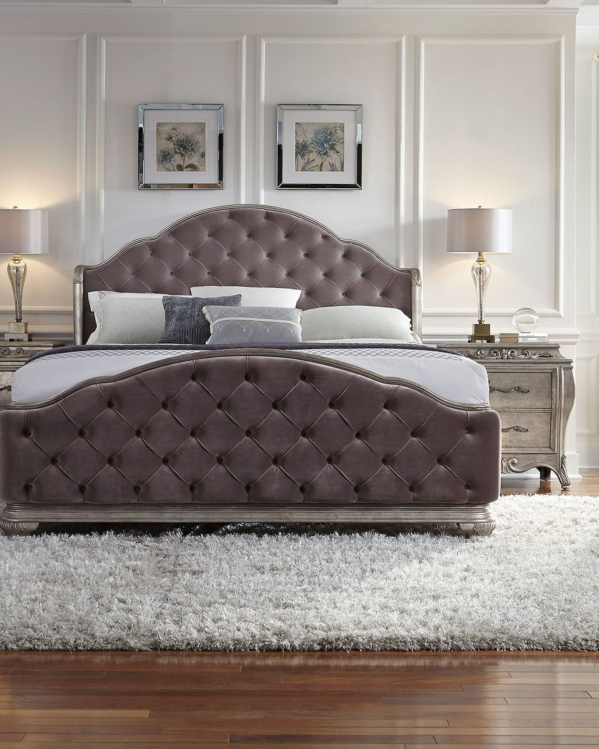 bella terra tufted king bed king beds bedrooms and master bedroom