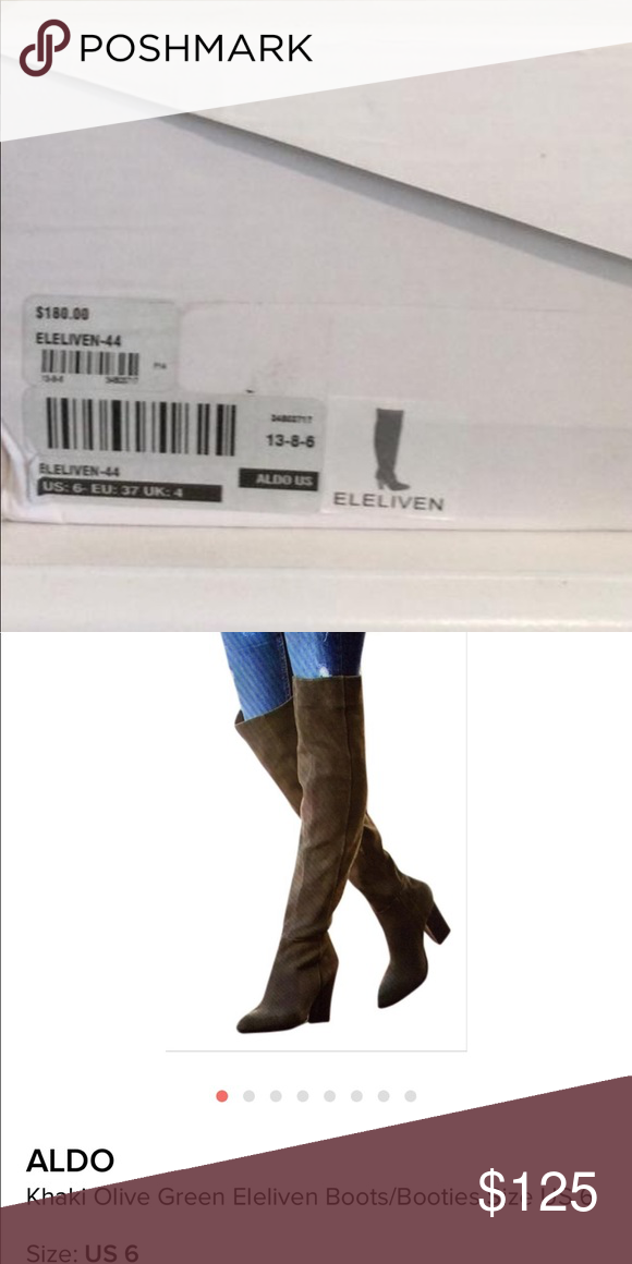 764faffad3d Also olive green over the knee boots Olive green over the knees boots Bnib Aldo  Shoes Over the Knee Boots