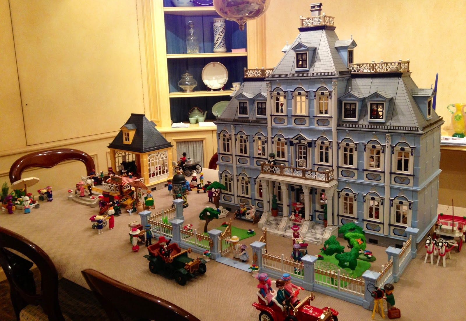 Victorian miniature houses - J S Victorian Houses Blue Mansion S