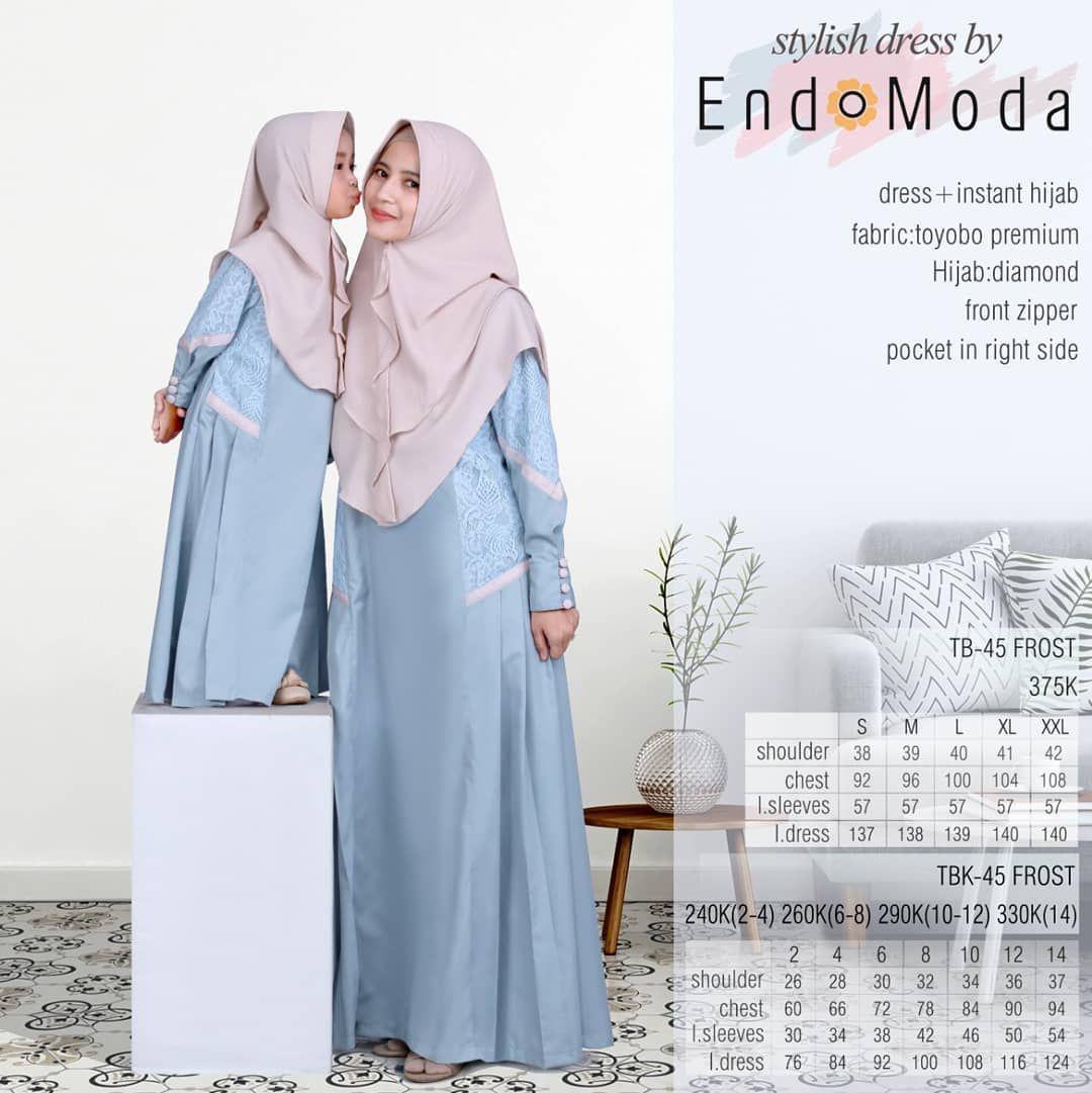 Endomoda Dress Instan hijab Spesifikasi Bahan Gamis Toyobo premium