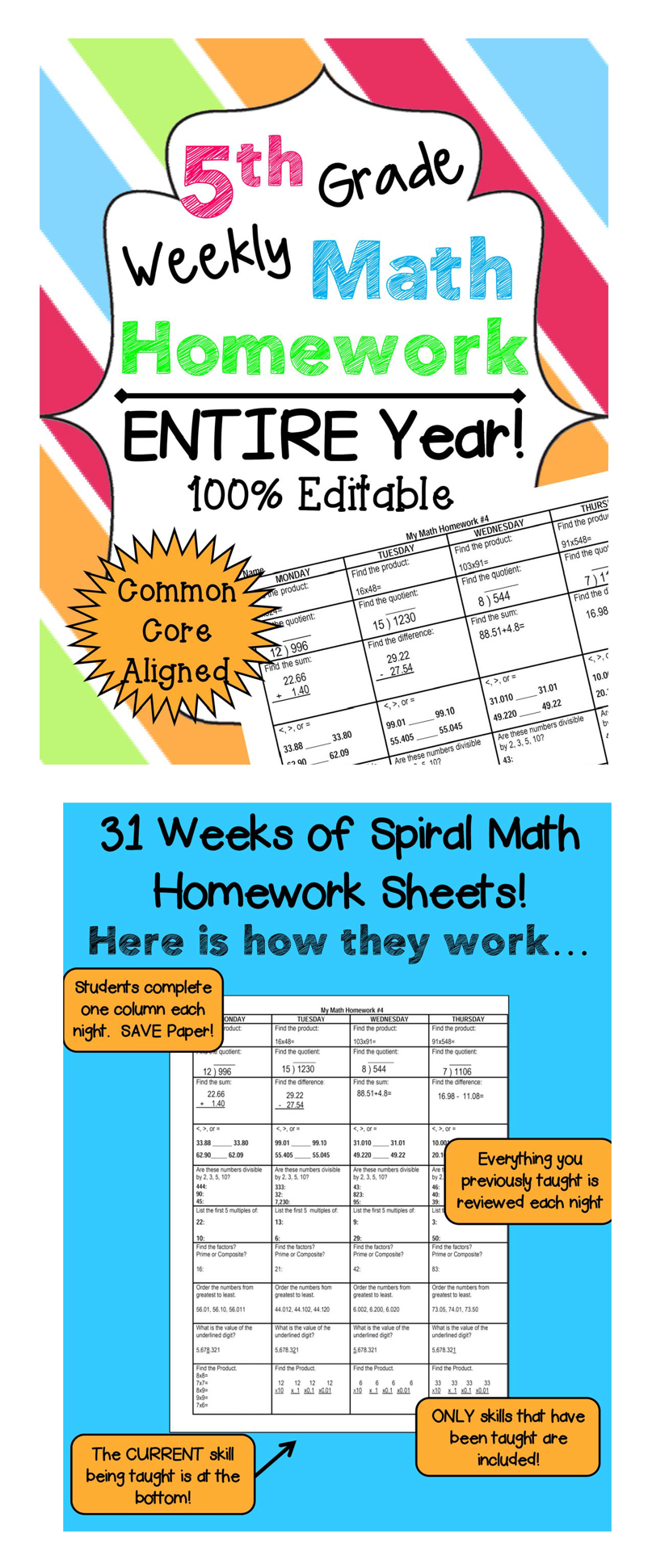 Homework help 5th grade math