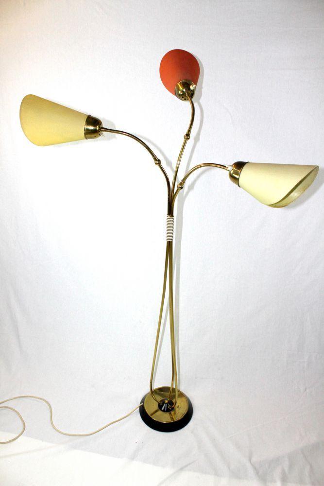 staande lamp tutenlampe met drie lampen 50s pinterest lights