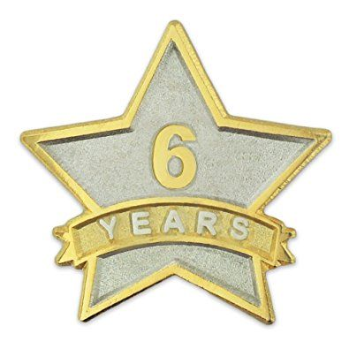 PinMartu0027s 6 Year Service Award Star Corporate Recognition Dual Plated Lapel  Pin Review | Star
