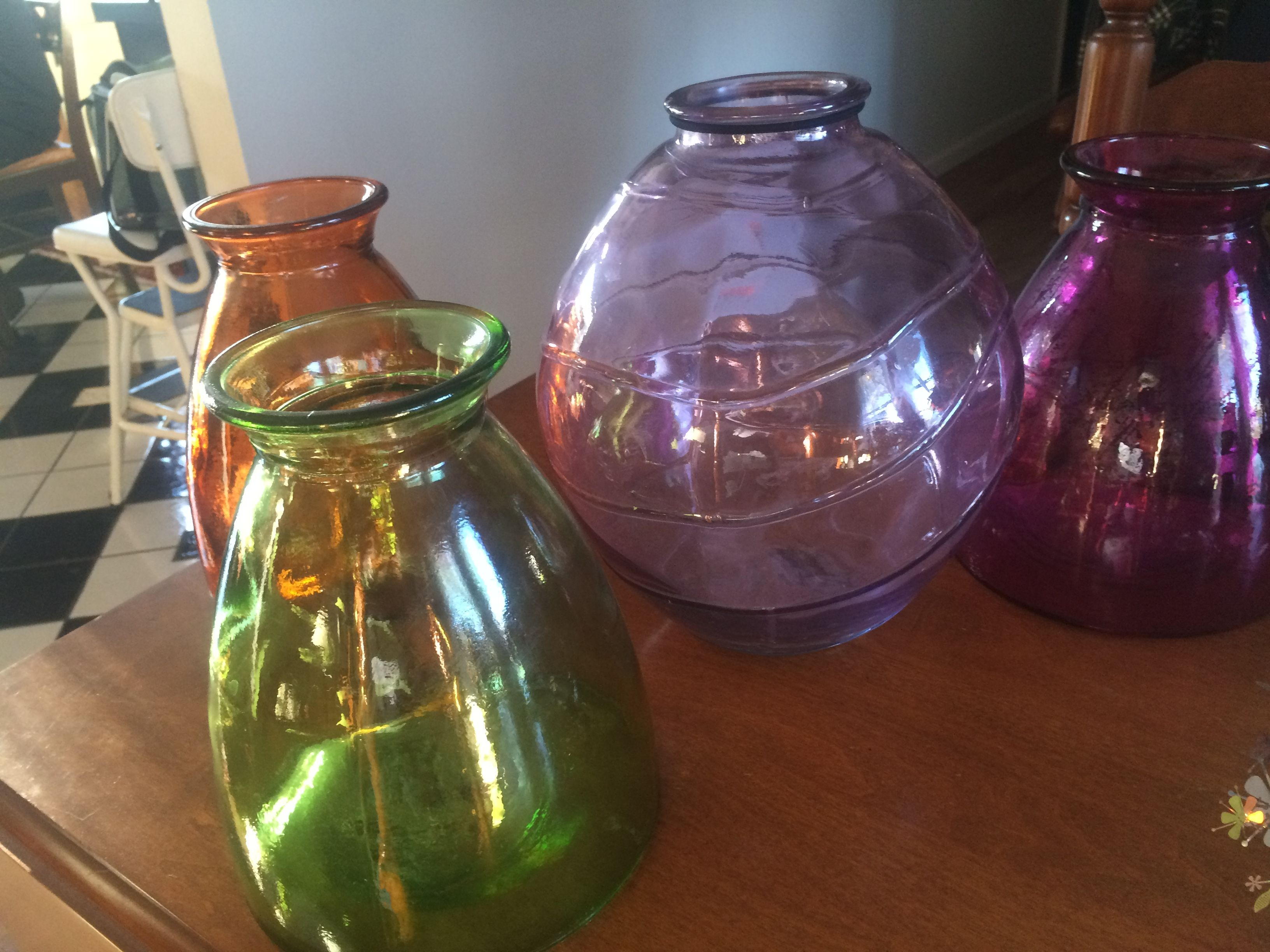 Randy spied these great vases for the reception. Perfect colors