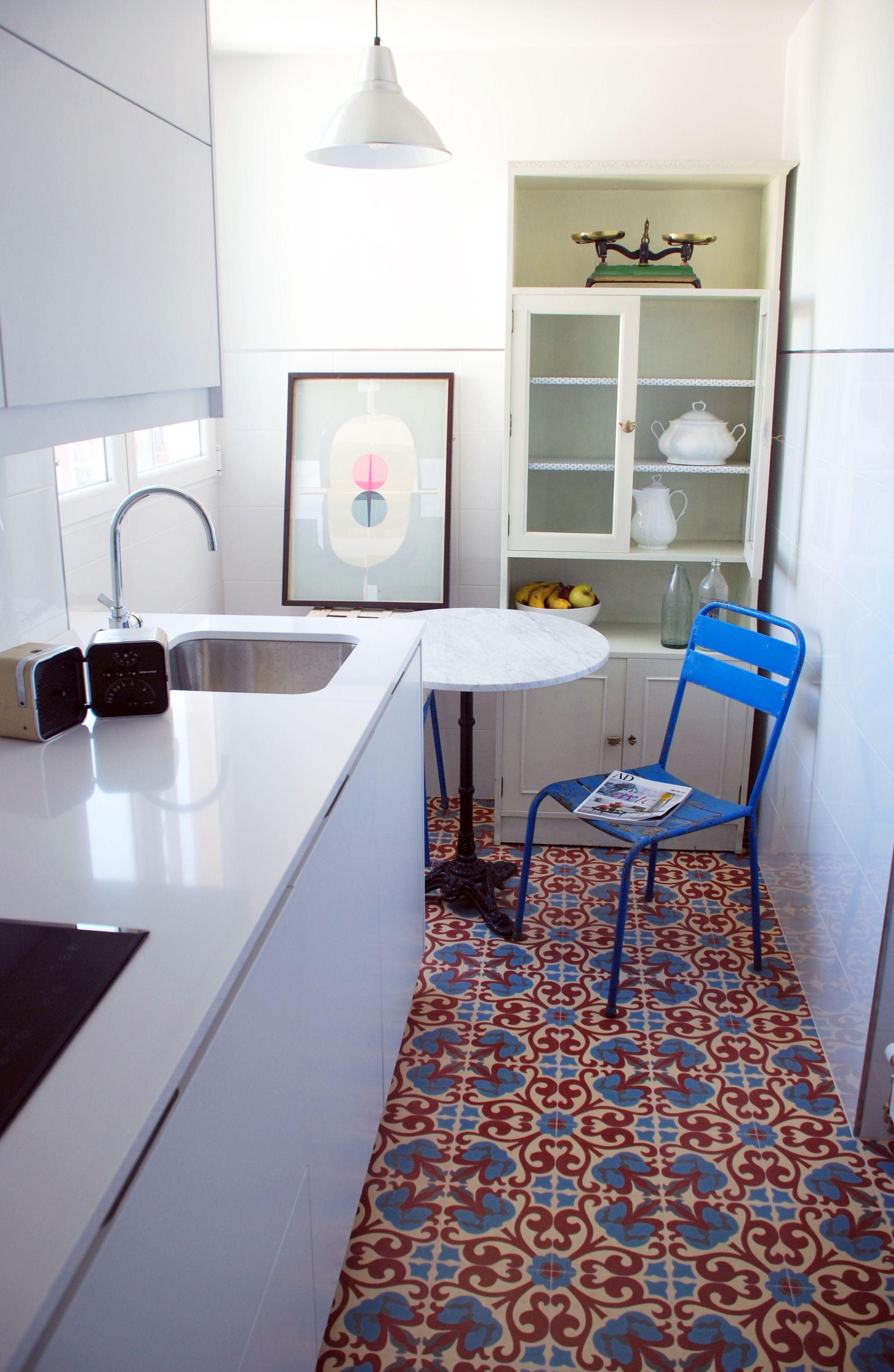 Cocina Santos. Suelo hidráulico, Mosaic del Sur. | Mi casa osea la ...