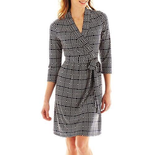75b435d65b Liz Claiborne Faux-Wrap Dress from JCPenney on shop.CatalogSpree.com ...