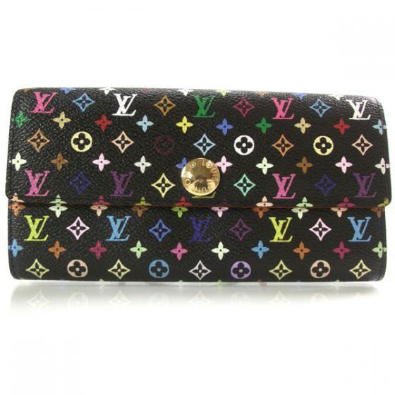 e8f08456056 LOUIS VUITTON Multicolor Sarah Wallet Black   Louis Vuitton--Talashi ...