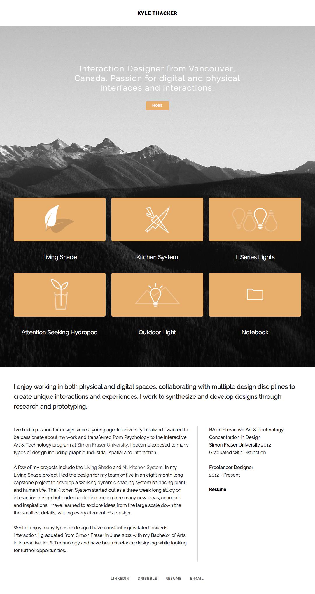 Kyle Thacker #webdesign #inspiration