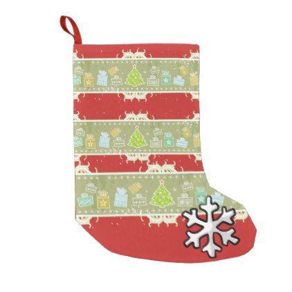Beautiful Christmas sock Brushed Polyester