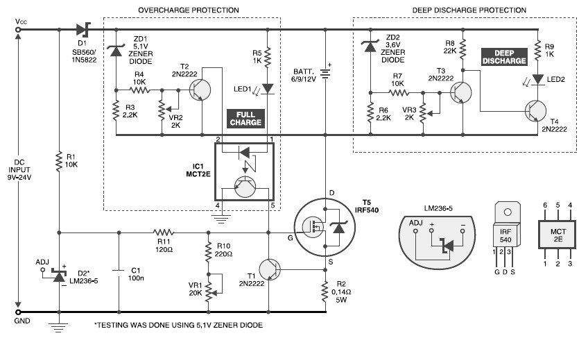 Battery Charger Overcharge Protection Battery Charger Circuit Battery Charger Battery