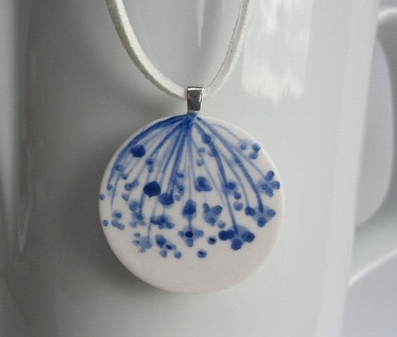 Porcelain Pendant Necklace