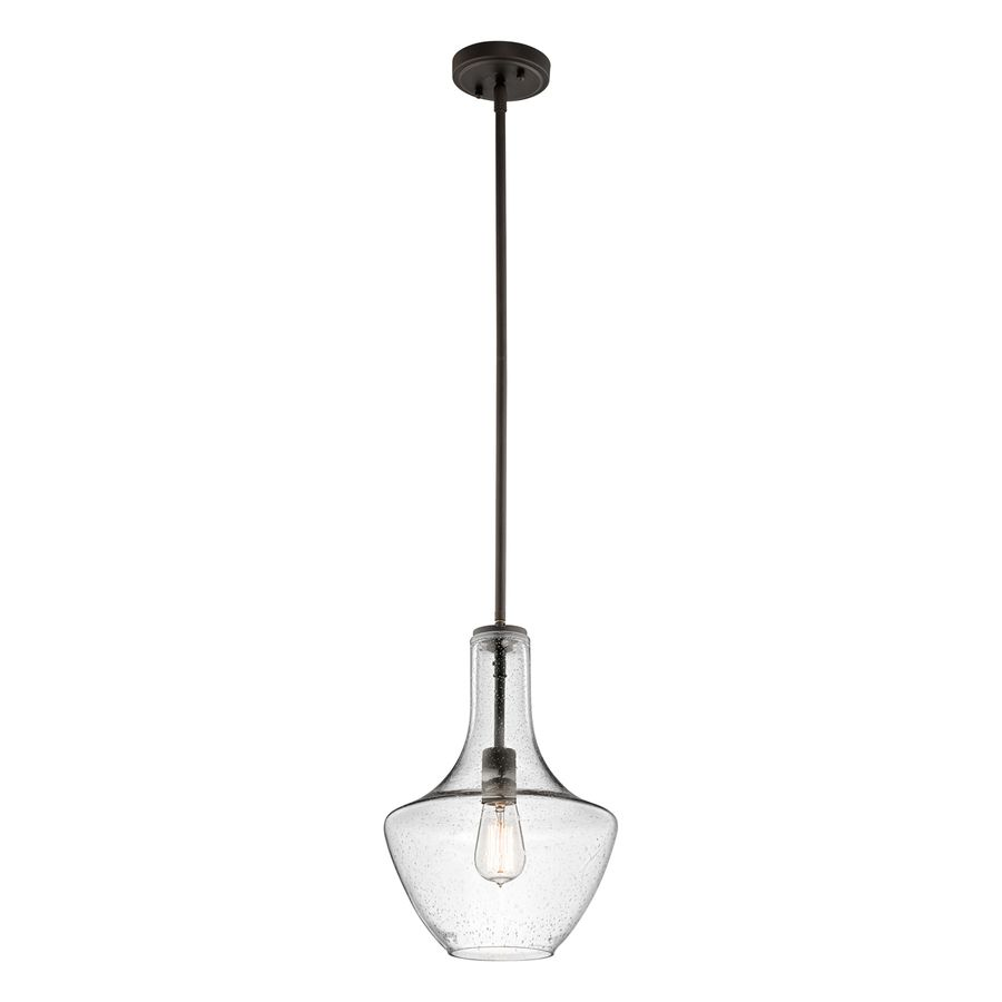 Lowes Pendant Lighting Captivating Shop Kichler Lighting Everly 105In W Olde Bronze Pendant Light Design Decoration
