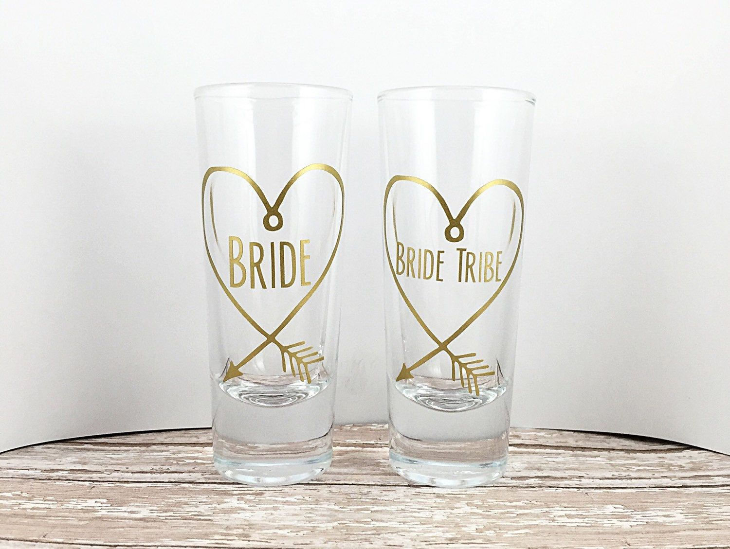 Bride Tribe Shot Glasses - Bridal Party - Bachelorette Party Favors ...