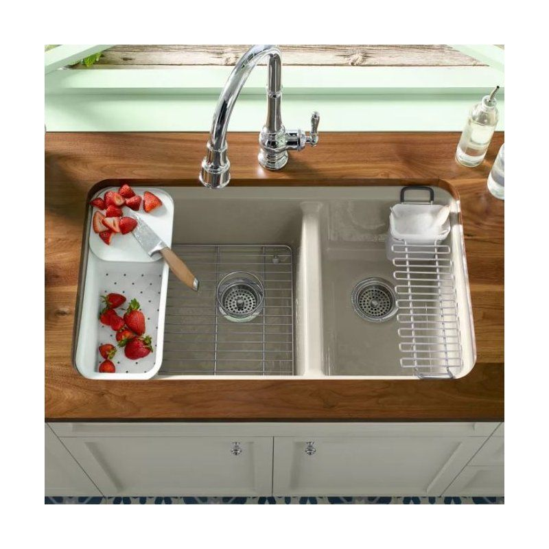 how to install a kitchen sink in a new countertop riverby 33 quot l x 22 quot w basin undermount kitchen sink 9962