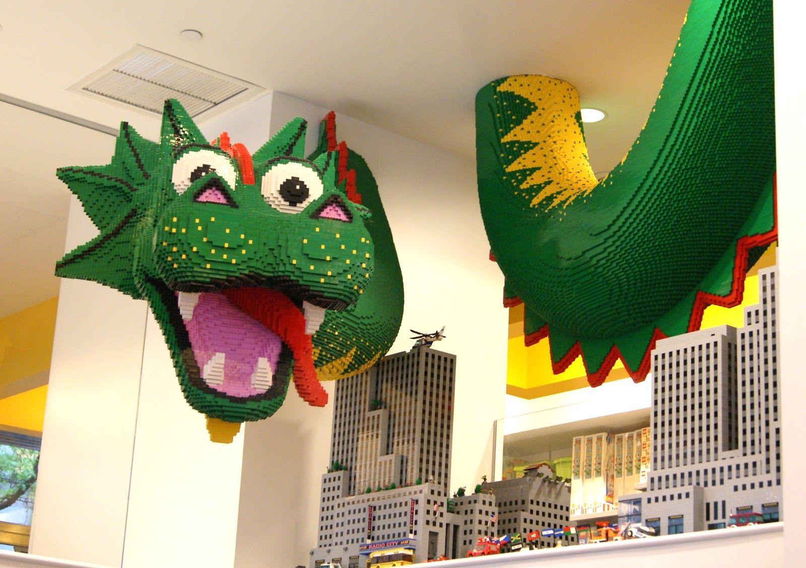 Lego Store Nyc Lego Store Lego Art Dinosaur Stuffed Animal